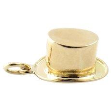 Vintage 14 Karat Yellow Gold Top Hat Charm
