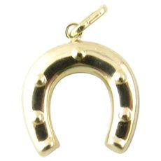 VIntage 14 Karat Yellow Gold Horseshoe Charm