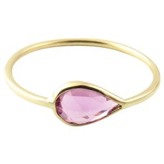 Vintage 18 Karat Yellow Gold Amethyst Ring Size 6