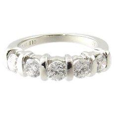 Vintage Platinum Diamond Wedding/Anniversary Band Size 6