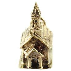 Vintage 14 Karat Yellow Gold Church/Chapel Charm