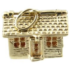 Vintage 14 Karat Yellow Gold Articulated House/Cabin Charm