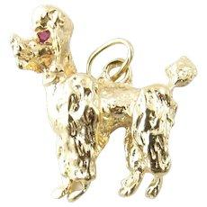Vintage 14 Karat Yellow Gold Poodle Pendant