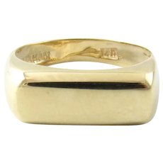 Vintage 14 Karat Yellow Gold Signet Ring Size 5