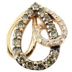 Vintage 14 Karat Rose Gold and Diamond Pendant