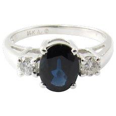 Vintage 14 Karat White Gold and Diamond Ring Size 6.5