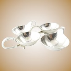 4 Georg Jensen Sterling Silver Salt Cellars#110
