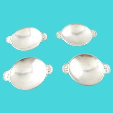 4 George Jensen Denmark Sterling Silver Dish Bowls Gundorph Albertus Design 335a