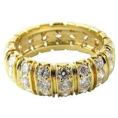 Vintage 18 Karat Yellow Gold and Diamond Band Size 6.25