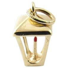Vintage 14 Karat Yellow Gold Lantern Charm