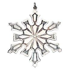 Vintage Metropolitan Museum of Art (MMA) Snowflake Ornament 1977