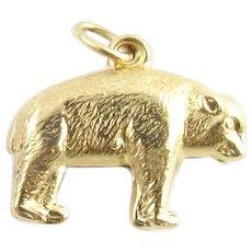 Vintage 14 Karat Yellow Gold Bear Charm