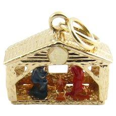 Vintage 14 Karat Yellow Gold Nativity Charm