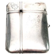 Antique German 800 Silver Cigarette Case with Monogram