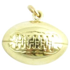 Vintage 14 Karat Yellow Gold Football Charm