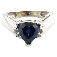 GAI Certified Vintage 14 Karat Yellow Gold Sapphire and Diamond Ring Size 4.5