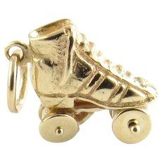 Vintage 14 Karat Yellow Gold Roller Skate Charm