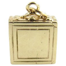 Vintage 14 Karat Yellow Gold Briefcase/Suitcase Charm