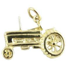 Vintage 14 Karat Yellow Gold Tractor Charm