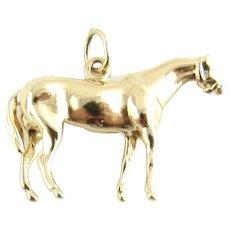 Vintage 14 Karat Yellow Gold Horse Charm