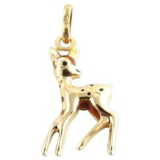 Vintage 18 Karat Yellow Gold Deer Charm