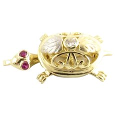 Vintage 14 Karat Yellow Gold Turtle Charm