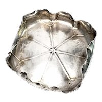 Antique George W Shiebler & Co Sterling Silver Lily Pad Bowl