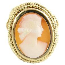 Vintage 18 Karat Yellow Gold Cameo Ring Size 7.5