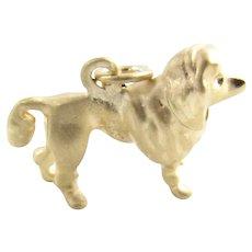 Vintage 14 Karat Yellow Gold Poodle Dog Charm