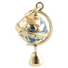 Vintage 14 Karat Yellow Gold Globe Charm