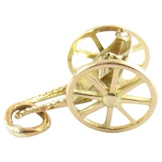 Vintage 14 Karat Yellow Gold Cart Charm