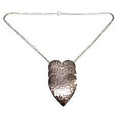 Vintage Danecraft Sterling Silver Triple Heart Necklace