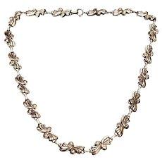 Vintage Danecraft Sterling Silver Scroll Link Necklace
