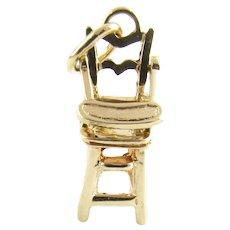 Vintage 14 Karat Yellow Gold High Chair Charm