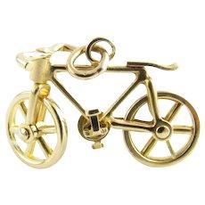 Vintage 14 Karat Yellow Gold Bicycle Charm