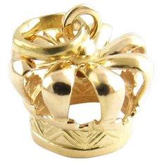 Vintage 18 Karat Yellow Gold Crown Charm