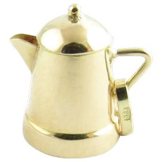 Vintage 14 Karat Yellow Gold Coffee Pot Charm