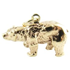 Vintage 14 Karat Yellow Gold Bear Charm
