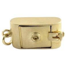 Vintage 14 Karat Yellow Gold Camera Charm