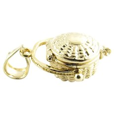 Vintage 14 Karat Yellow Gold Nantucket Basket Charm