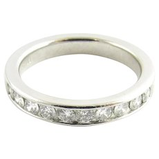 Vintage Platinum and Diamond Wedding Band Size 5