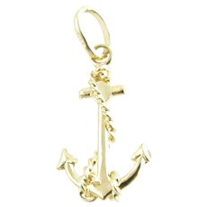 Vintage 14 Karat Yellow Gold Anchor Charm