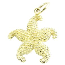 Vintage 14 Karat Yellow Gold Starfish Charm
