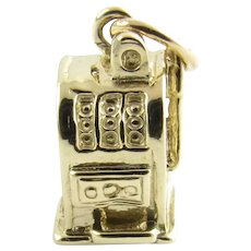 Vintage 14 Karat Yellow Gold Slot Machine Charm
