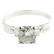 Vintage Platinum and Diamond Engagement Ring Size 5.75