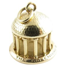 Vintage 14 Karat Yellow Gold Greenbrier Dome Charm