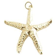 Vintage 14 Karat Yellow Gold Starfish Charm/Pendant