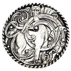 Vintage Leif Gruer Norway Dragestil 830 Silver Pin