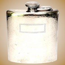 Webster Hammered Sterling Silver 1/2 Pint Hip Flask