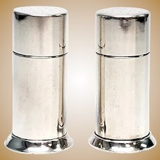 Vintage Tiffany & Co Sterling Silver Salt and Pepper Shakers